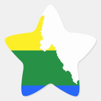 Adesivo Estrela Mapa da bandeira de Idaho LGBT