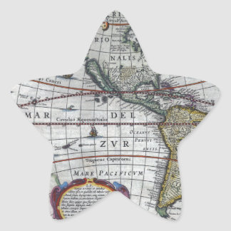 Adesivo Estrela mapa velho Americas
