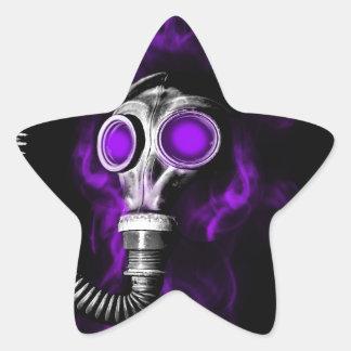 Adesivo Estrela Máscara de gás