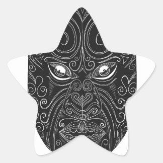 Adesivo Estrela Máscara maori Scratchboard
