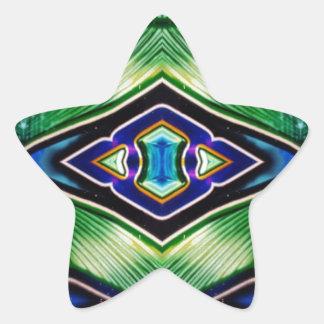 Adesivo Estrela Máscaras ricas bonito da lavanda azul verde