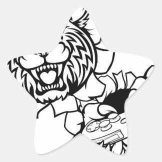 Adesivo Estrela Mascote desorganizada do Gamer de Esports do lince