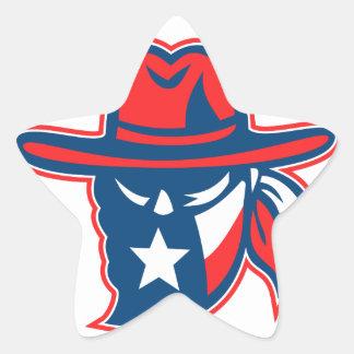 Adesivo Estrela Mascote foragido da bandeira de Texas do Texan