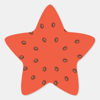 Adesivo Estrela melancia para dentro