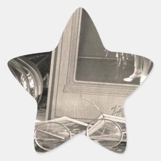 Adesivo Estrela Memórias do vintage