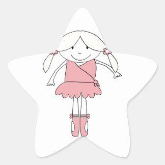 Adesivo Estrela Menina da bailarina