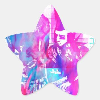 Adesivo Estrela Menina do gótico do algodão doce e gajo do punk