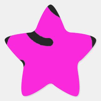 Adesivo Estrela Merda Fluorescente