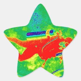 Adesivo Estrela Mergulhador de mergulhador de Havaí