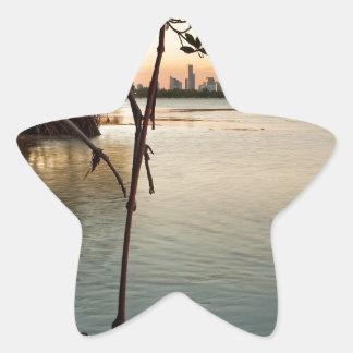 Adesivo Estrela Miami e manguezais no por do sol