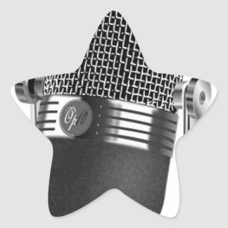 Adesivo Estrela Microfone clássico