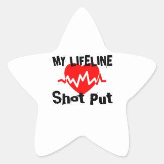 Adesivo Estrela Minha linha de vida tiro psto ostenta o design