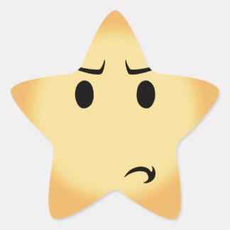 Adesivo Estrela Moji Disappointed
