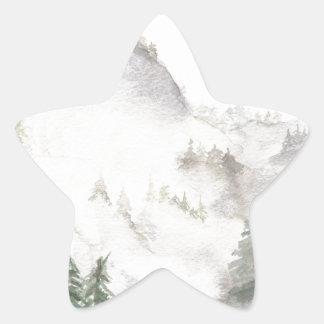 Adesivo Estrela Montanhas enevoadas