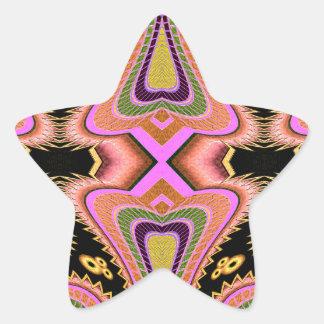 Adesivo Estrela Movimentos Groovy do Blowfish do pêssego