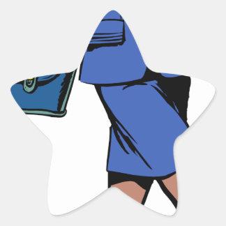 Adesivo Estrela Mulher de negócio