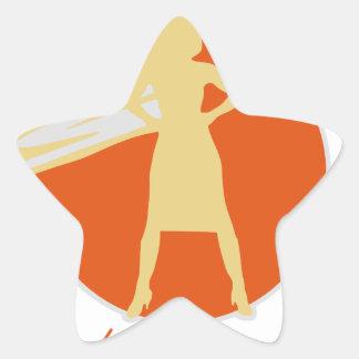 Adesivo Estrela mulher-estrela mundial