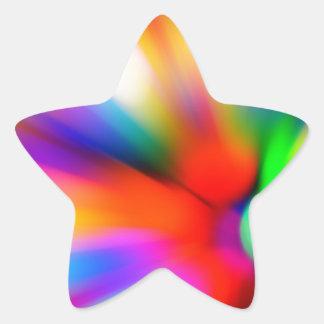 Adesivo Estrela Multi luzes borradas da cor