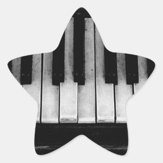 Adesivo Estrela Música velha do instrumento do teclado de piano de