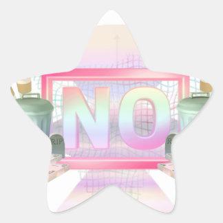 Adesivo Estrela Não