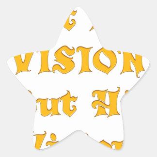 Adesivo Estrela Não minha visão mas sua visão