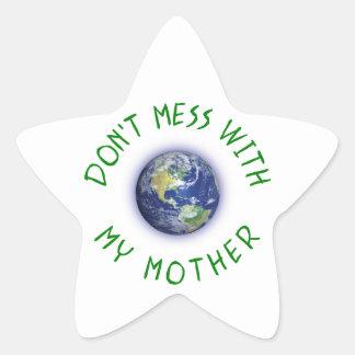 Adesivo Estrela Não suje com minha Mãe Terra