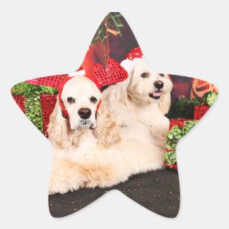 Adesivo Estrela Natal - Cocker - Toby, Havanese - pouco T