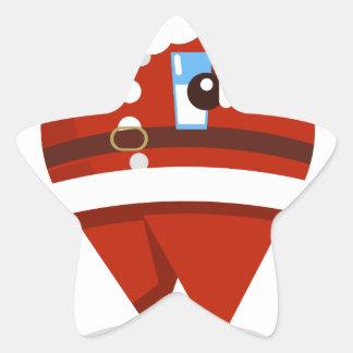 Adesivo Estrela Natal de Papai Noel
