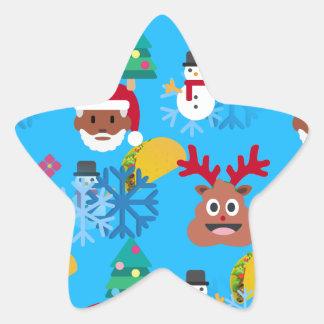 Adesivo Estrela Natal preto do taco do papai noel