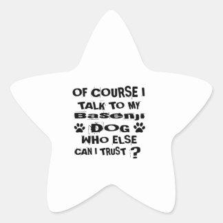 Adesivo Estrela Naturalmente eu falo a meu design do cão de
