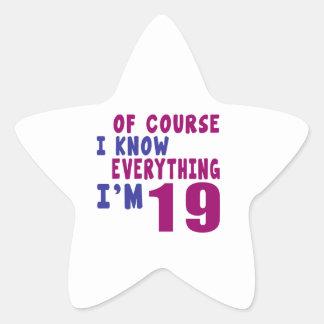Adesivo Estrela Naturalmente eu sei que tudo eu sou 19