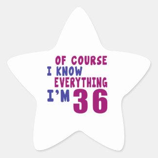 Adesivo Estrela Naturalmente eu sei que tudo eu sou 36