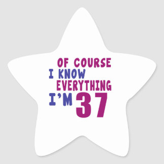 Adesivo Estrela Naturalmente eu sei que tudo eu sou 37