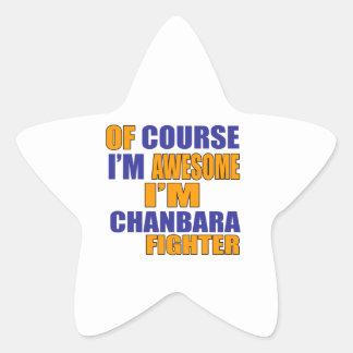 Adesivo Estrela Naturalmente eu sou lutador de Chanbara