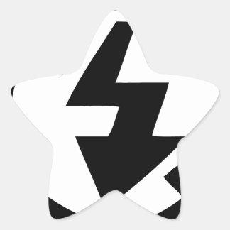 Adesivo Estrela Nenhuma fotografia instantânea
