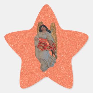 Adesivo Estrela Neve alaranjada ultrajante do anjo da esperança