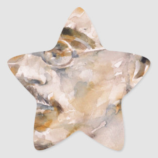 Adesivo Estrela nietzsche de Friedrich - aguarela portrait.2