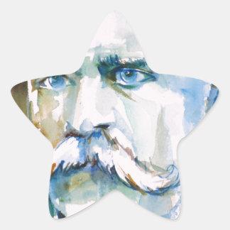 Adesivo Estrela nietzsche de Friedrich - retrato da aguarela