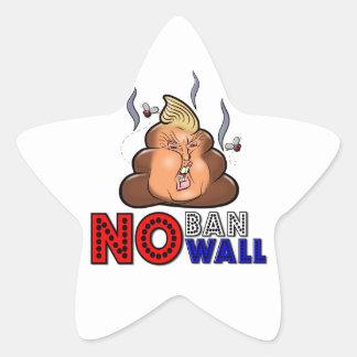 Adesivo Estrela NoBanNoWall nenhuma proibição nenhuma proibição da