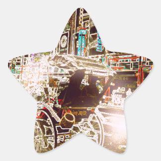 Adesivo Estrela Noite do rickshaw de Tokyo