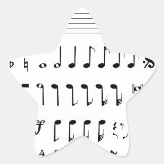 Adesivo Estrela Notação musical
