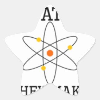 Adesivo Estrela Nunca confie um átomo - ciência engraçada