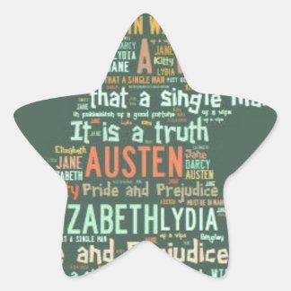 Adesivo Estrela Nuvem da palavra do orgulho e do preconceito