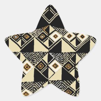 Adesivo Estrela O africano Kuba inspirou o design