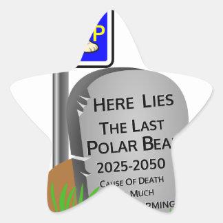 Adesivo Estrela O aquecimento global, RASGA o urso polar 2050