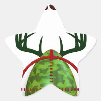 Adesivo Estrela O caçador perito da páscoa, cervo do ovo visa o