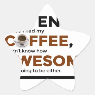 Adesivo Estrela O café da bebida seja impressionante