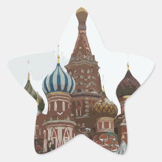 Adesivo Estrela O cathedral_russo da manjericão do santo
