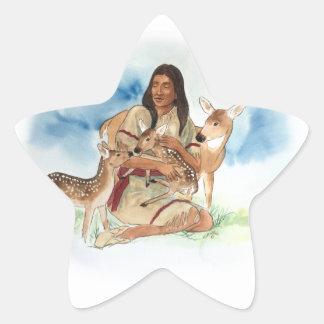 Adesivo Estrela O clã dos cervos sere de mãe com suas jovens