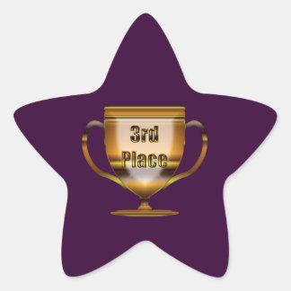 Adesivo Estrela ó Coloque o troféu